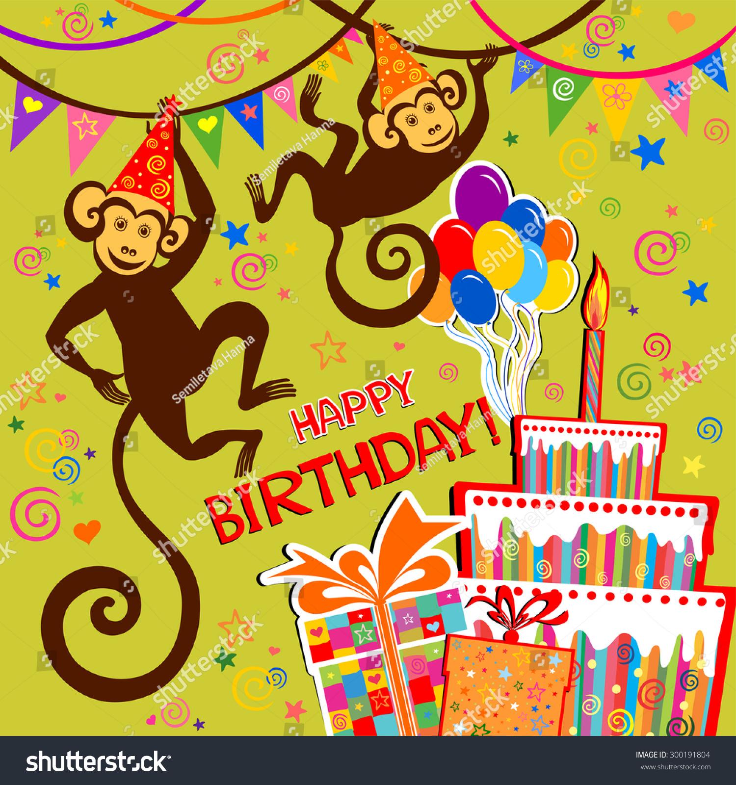 Monkey Birthday Card – gangcraft