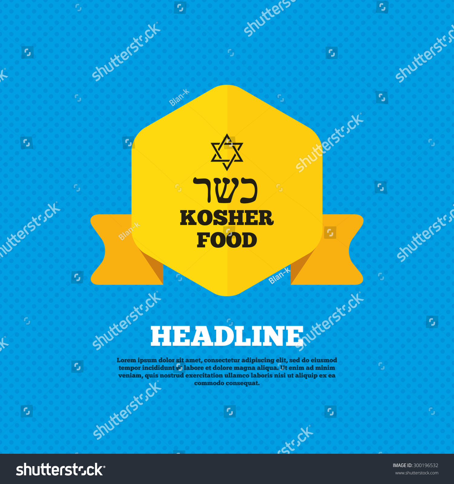 Kosher food product sign icon natural stock vector 300196532 kosher food product sign icon natural jewish food with star of david symbol yellow biocorpaavc Gallery