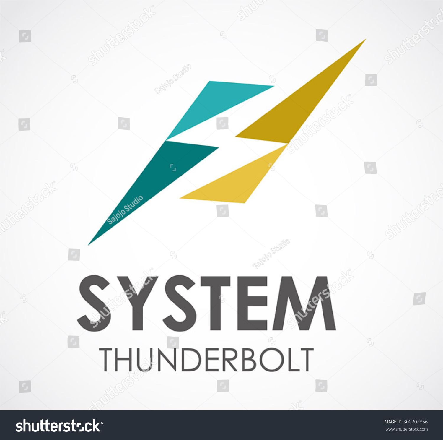 System Thunderbolt Electricity Abstract Vector Logo Stock Vector ...