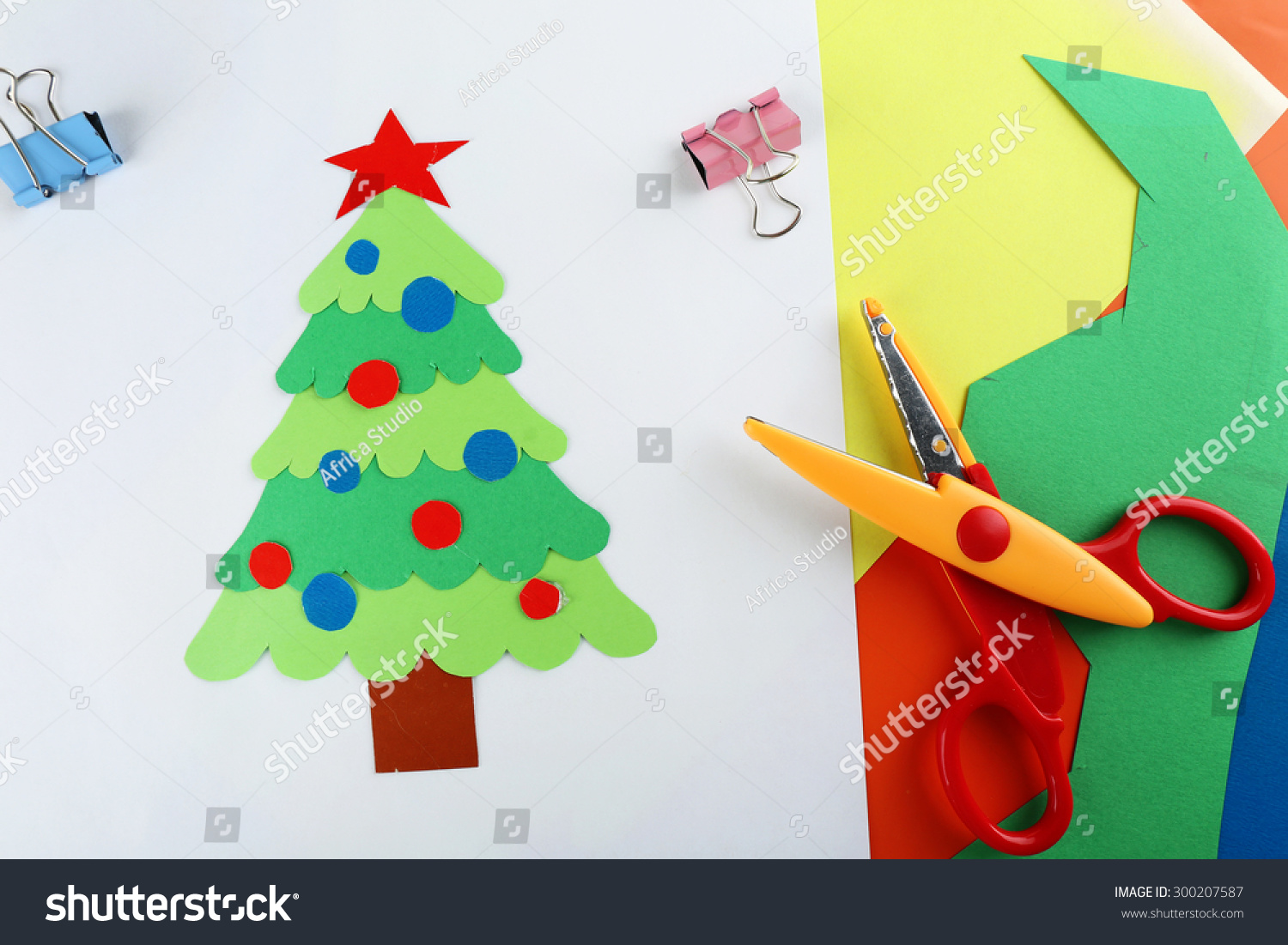 Creative Paper Christmas Tree White Stock Edit Now