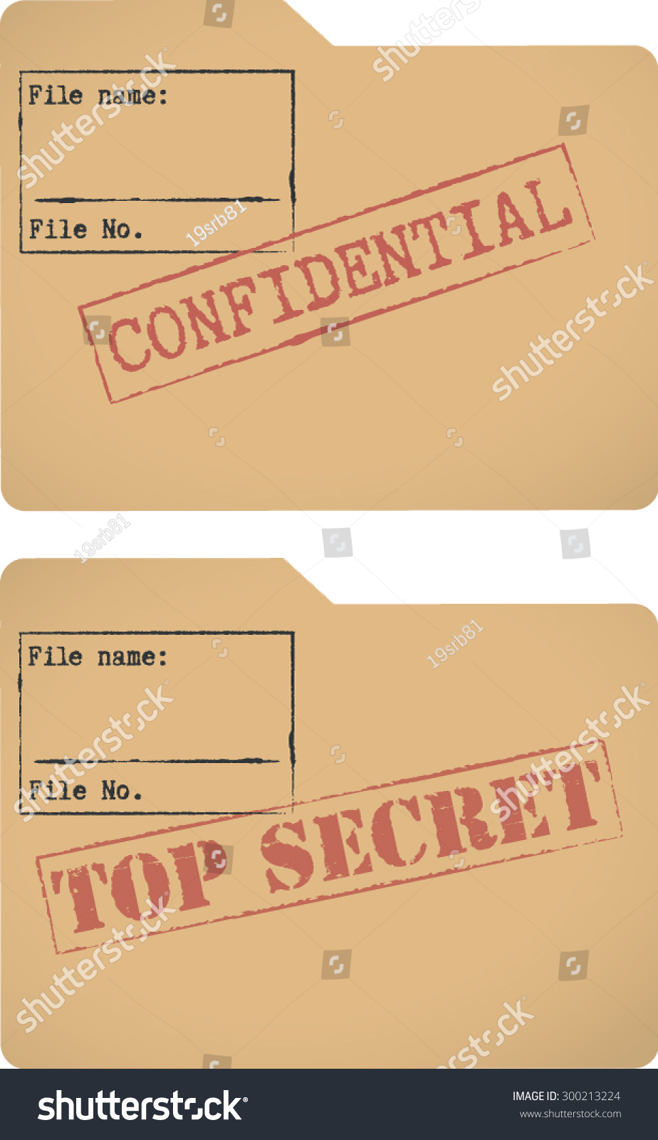 confidential top secret document file templates stock