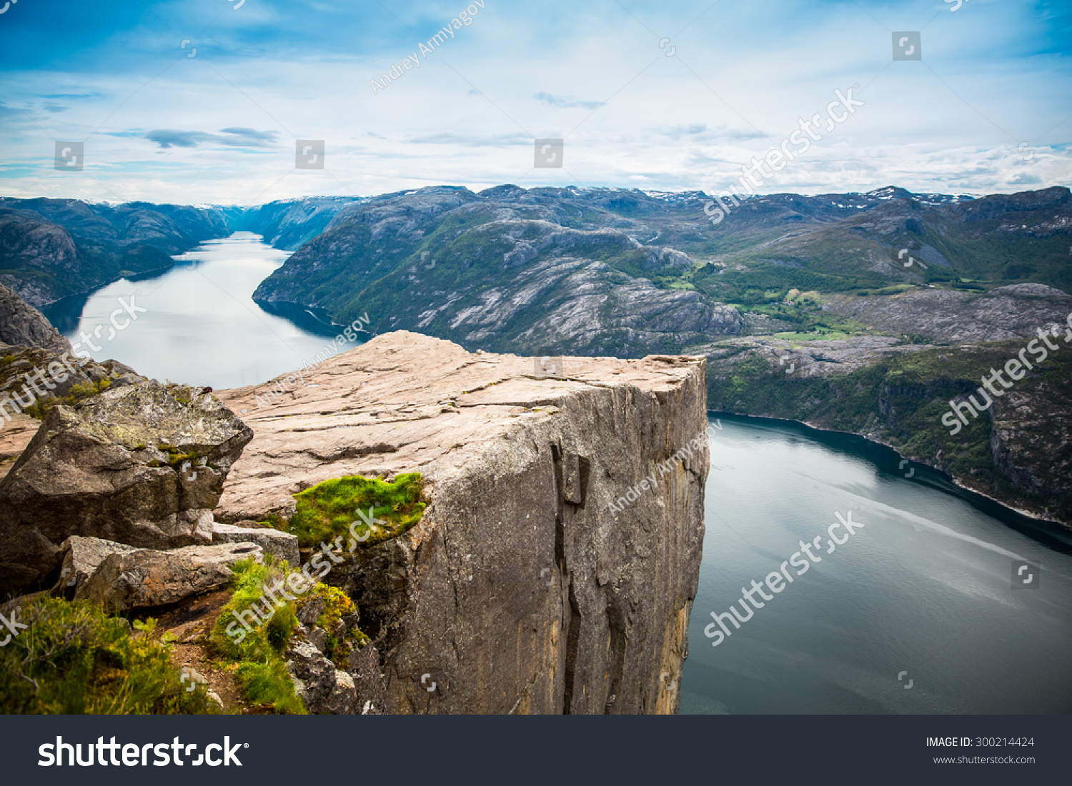 Preikestolen or Prekestolen also known by the English translations of Preacher's Pulpit or Pulpit Rock is a famous tourist attraction in Forsand Ryfylke Norway