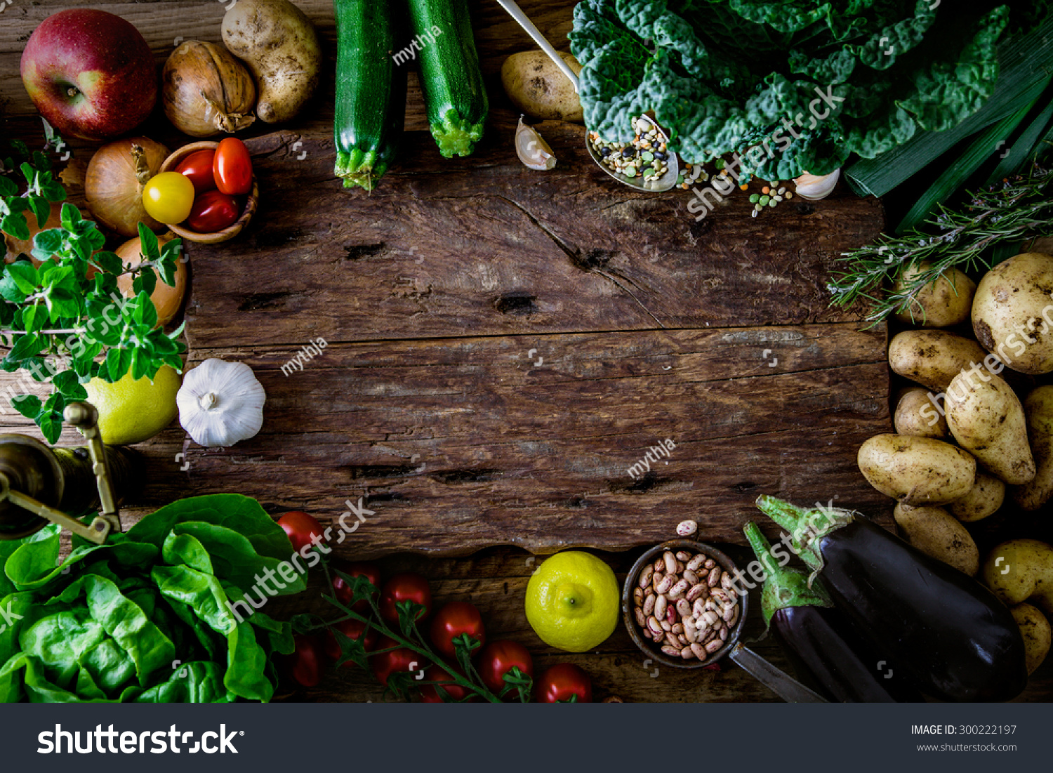 vegetables on wood bio healthy food herbs and spices