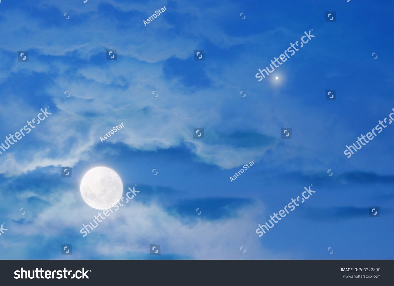 Moon Jupiter Venus Conjunction My Astronomy Stock Photo