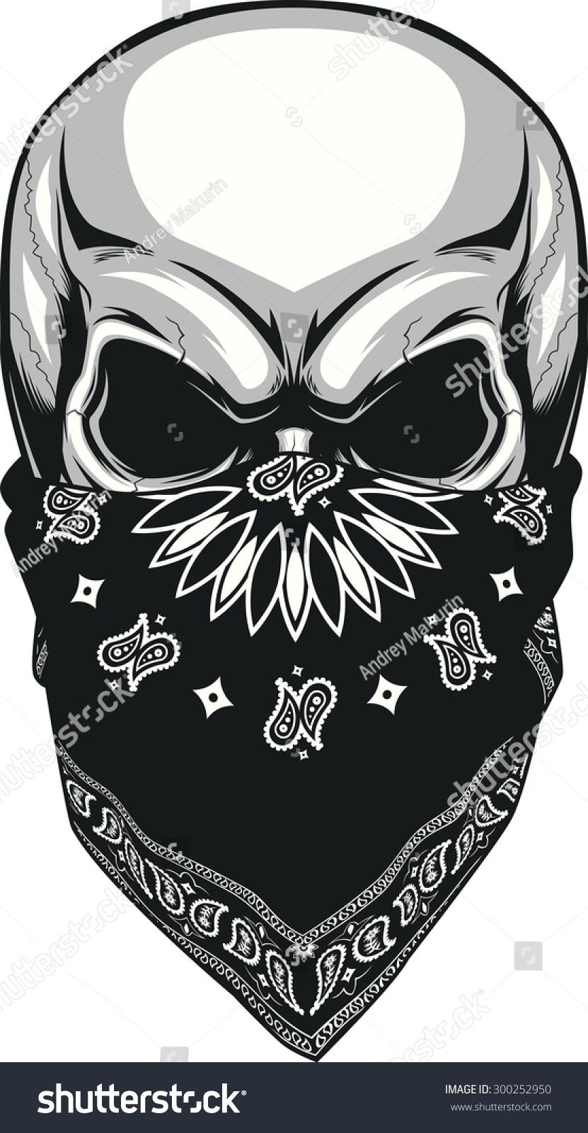 skull bandana stock vector 300252950 shutterstock
