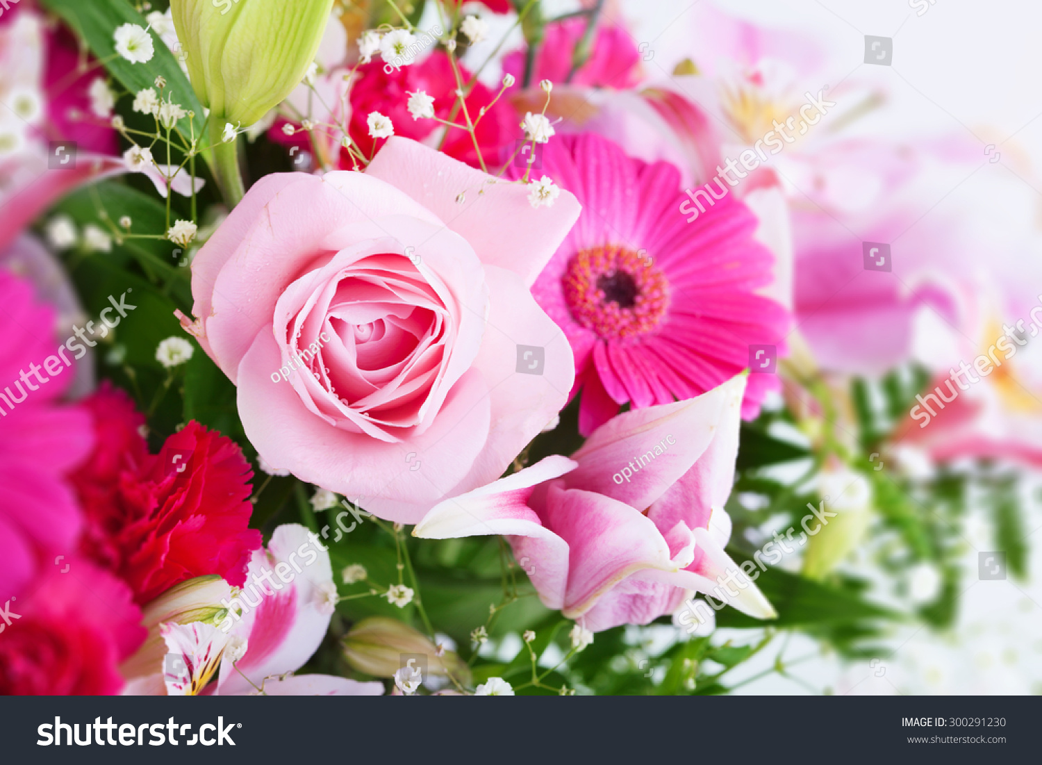 Pinkish Tone Flower Bouquet Focus On Stock Photo Edit Now