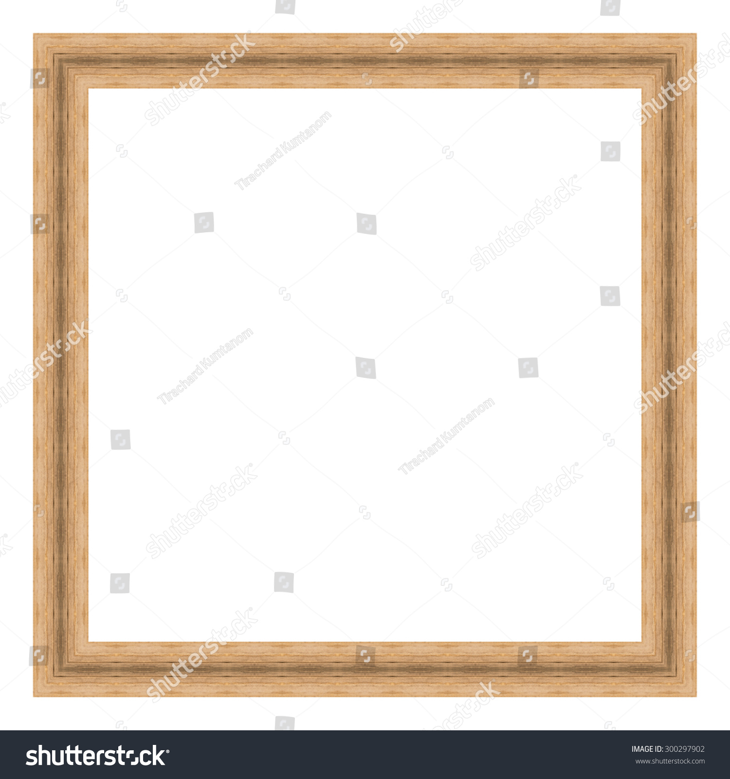 Royalty-free Brown wooden frame isolated on white… #300297902 Stock ...
