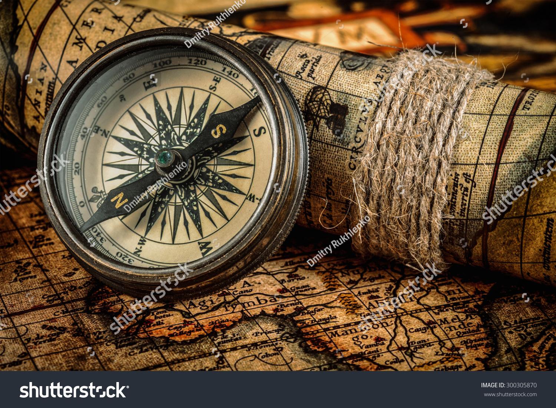 Travel Geography Navigation Concept Background Old Stockfoto (Jetzt ...