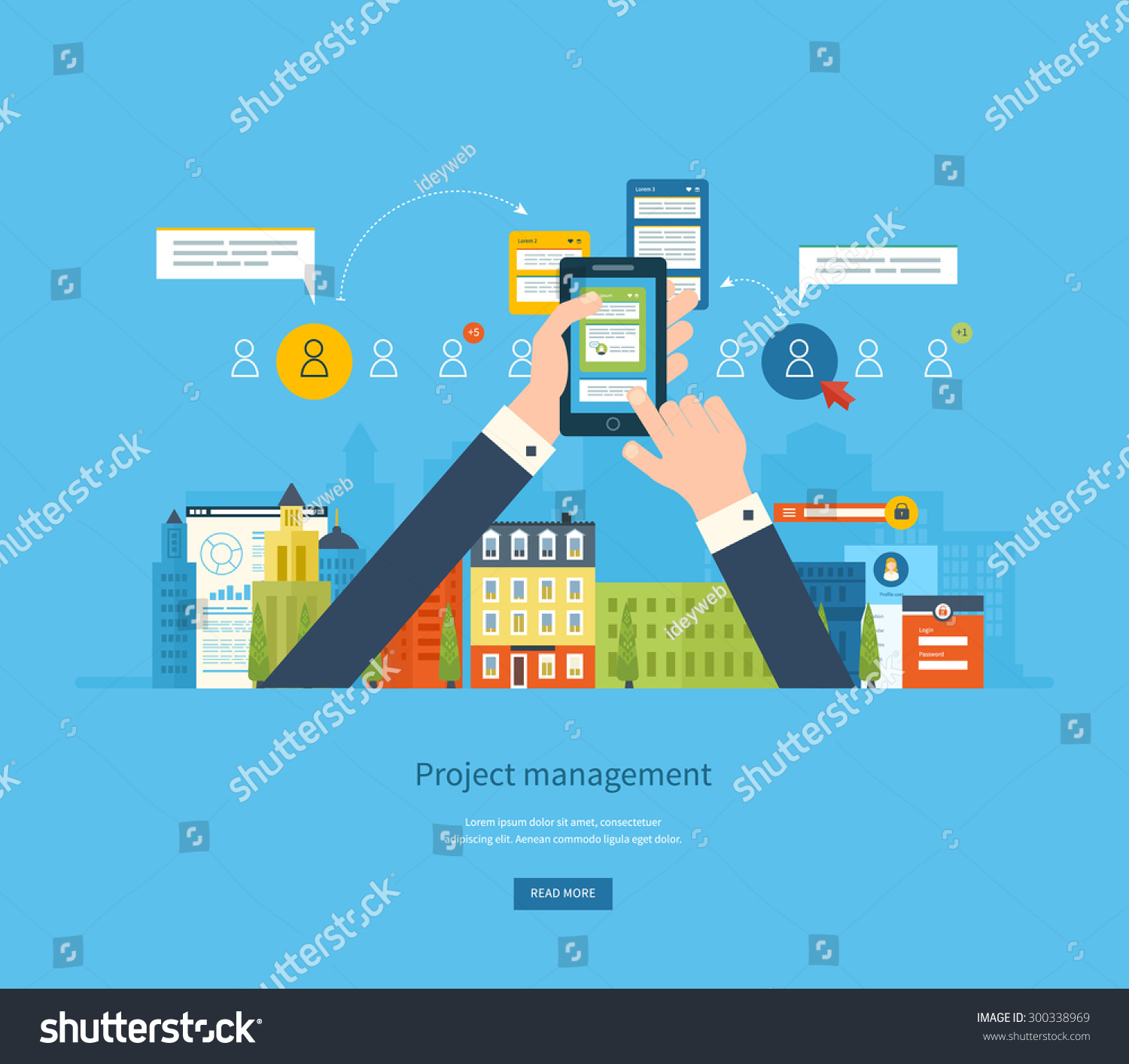 Flat Design Illustration Concepts For Business Analysis And Planning Consulting Team Work
