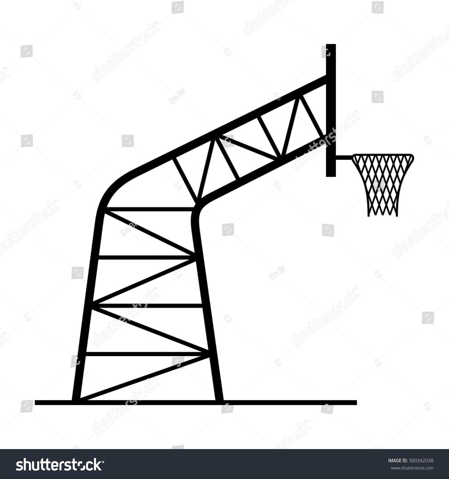 Basketball Hoop Stock Vector Royalty Free 300342038 Shutterstock Dimensions Diagram