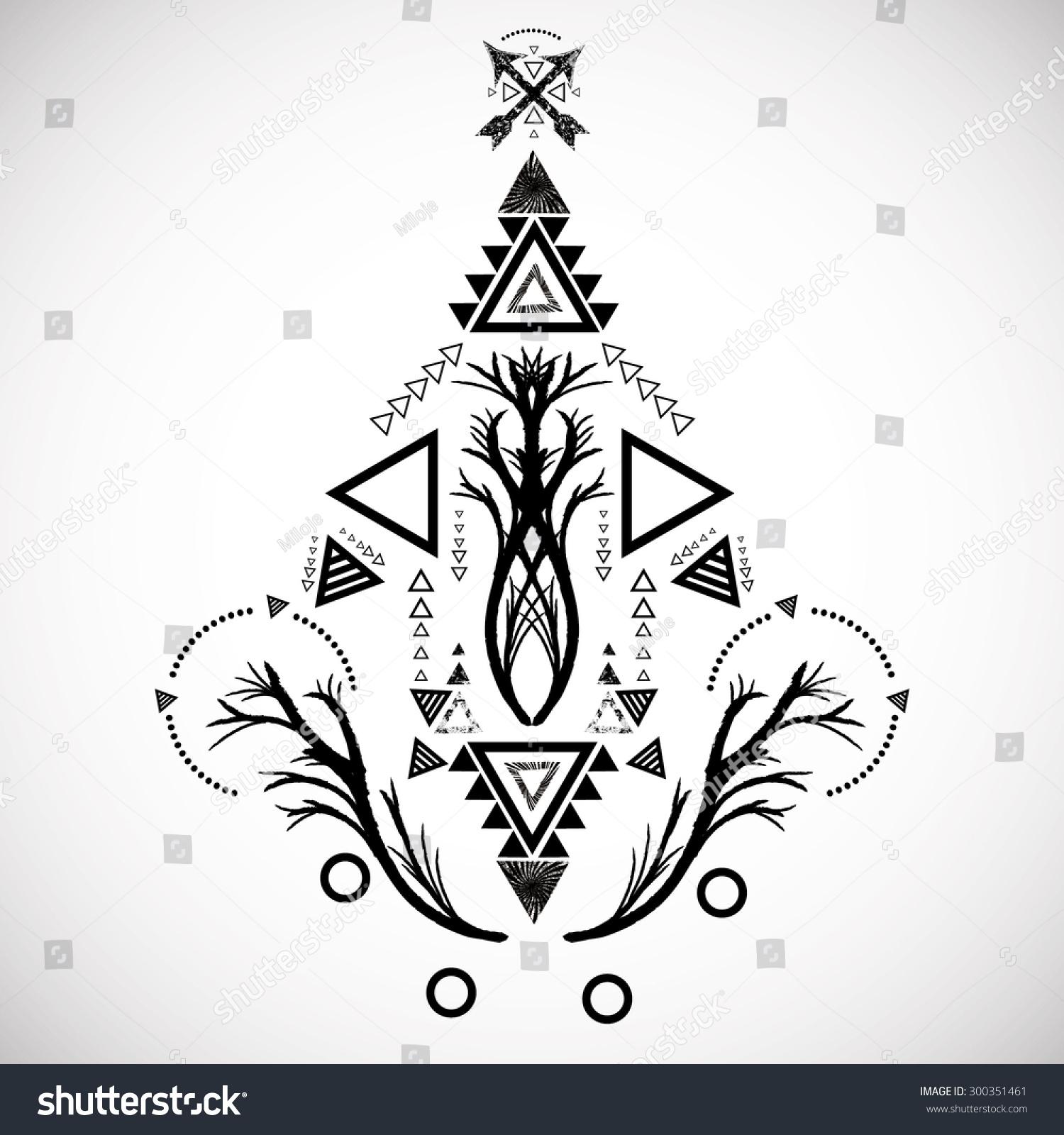 Tribal ethnic aztec geometric element vector stock vector tribal ethnic aztec geometric element vector illustration ornament decorative symbol isolated on white background biocorpaavc Gallery