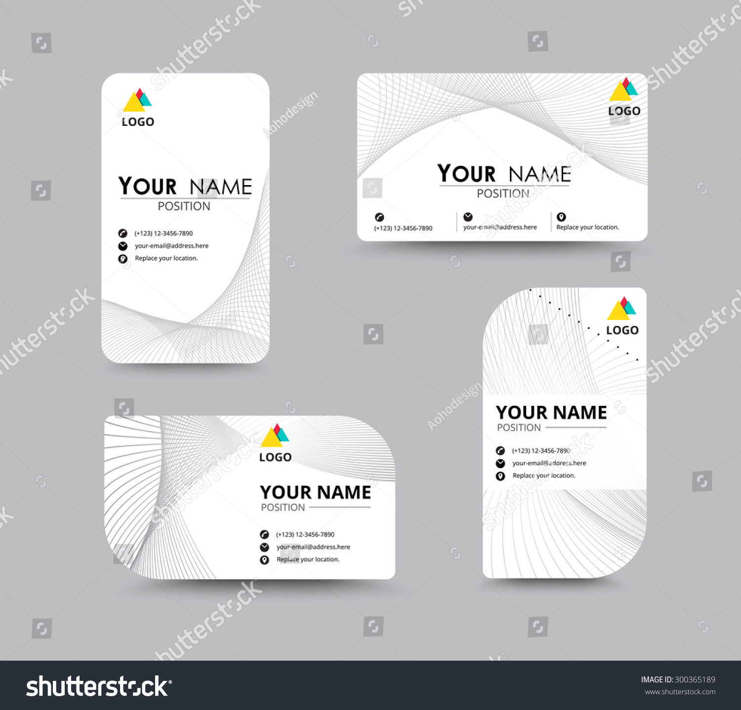 business contact card template design name stock vector