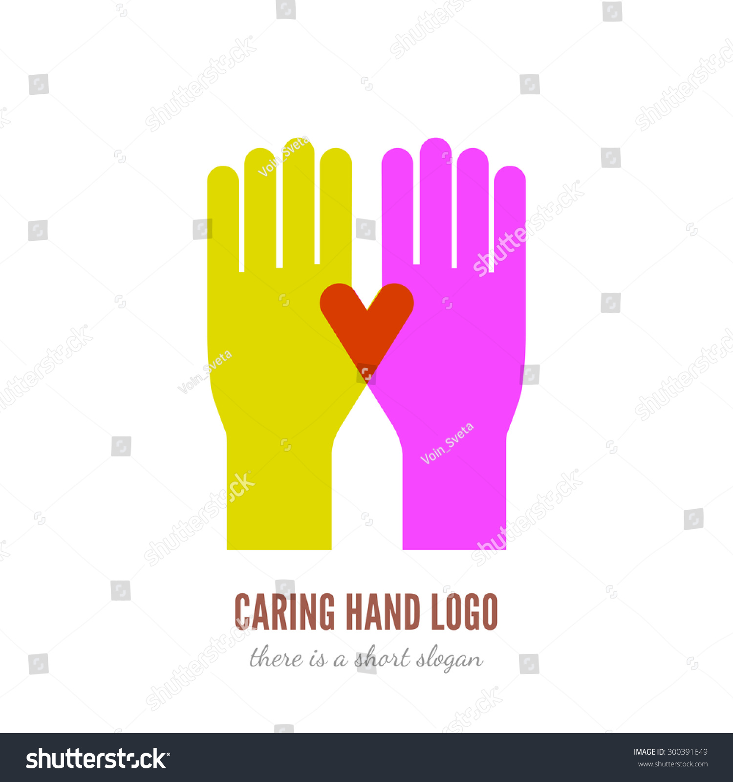 Vector illustration two hands logo template stock vector 300391649 vector illustration of two hands logo template help care assistant concept icon pronofoot35fo Image collections