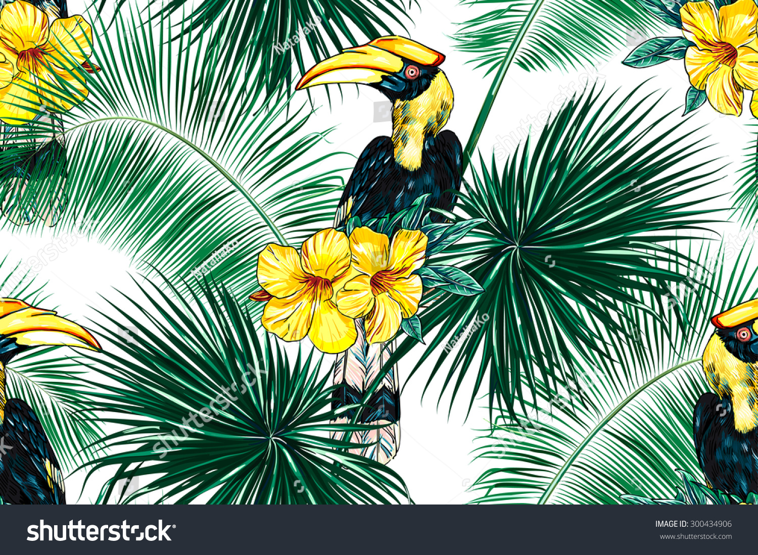 wallpaper tropical birds and foliage - photo #20