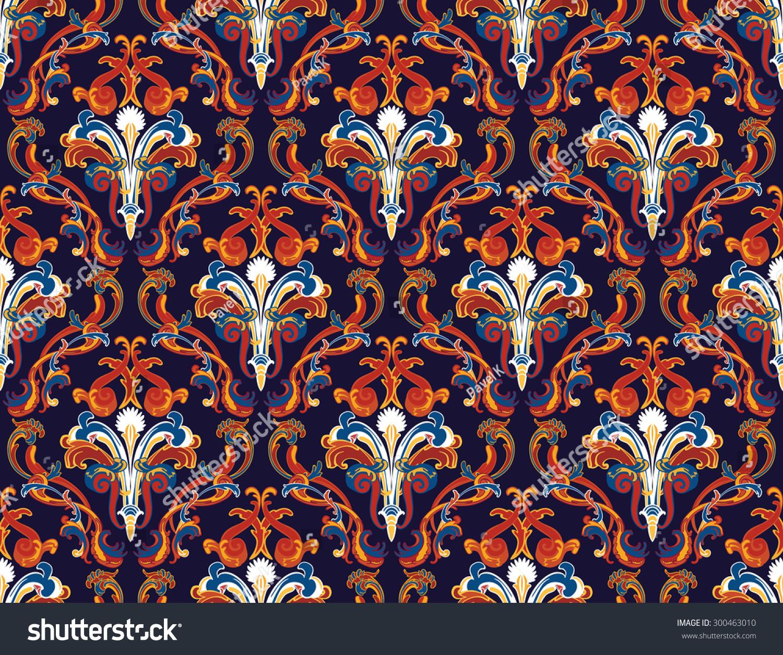 swirling royal pattern wallpaper - photo #34