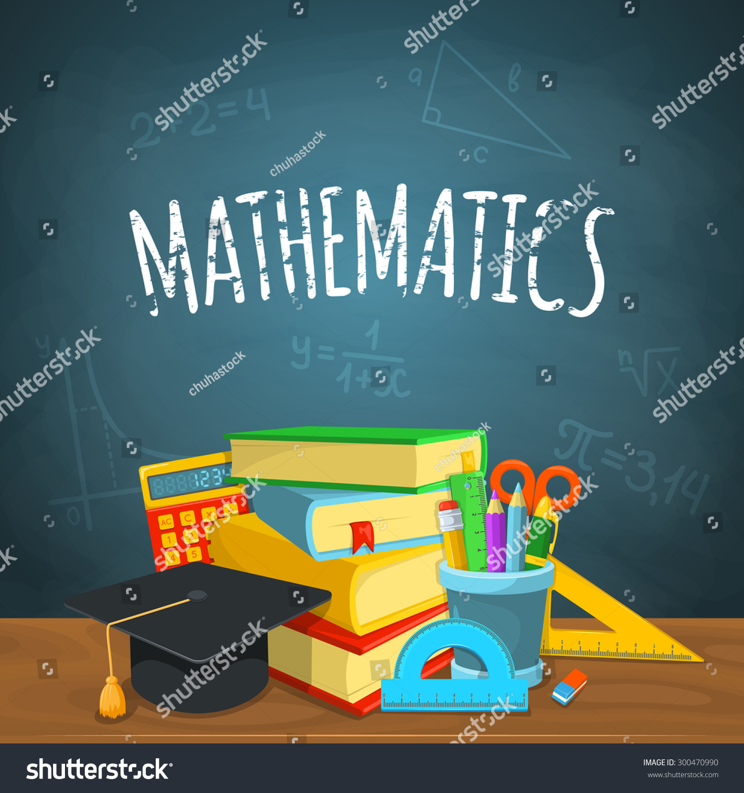 math backdrop education background design science stock vector