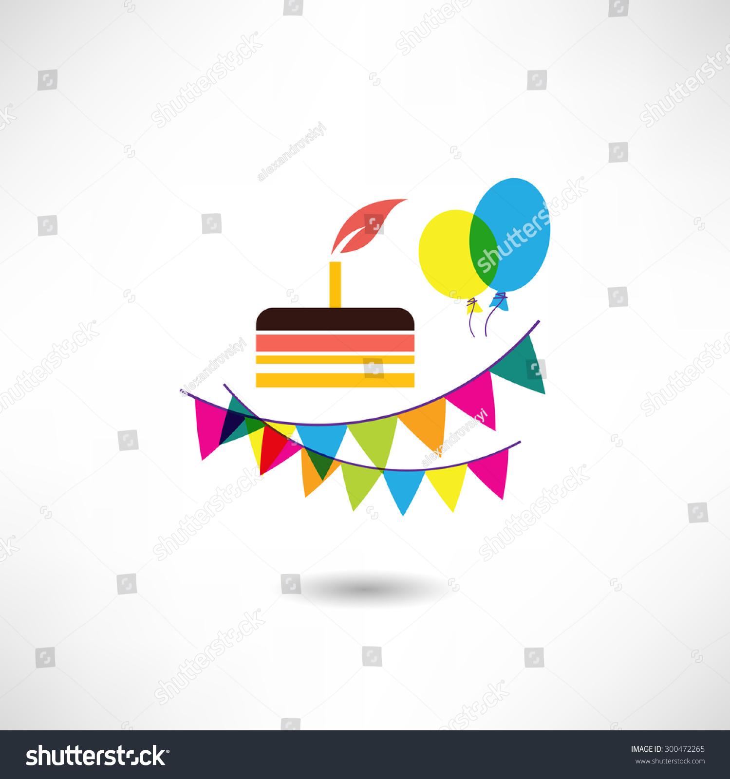 Birthday cake icon stock vector 300472265 shutterstock birthday cake icon buycottarizona