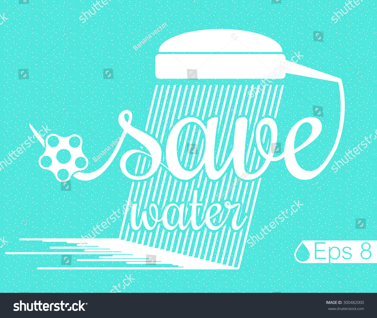 Poster design on save water - Vector Poster Minimal Design Save Water Eps 8