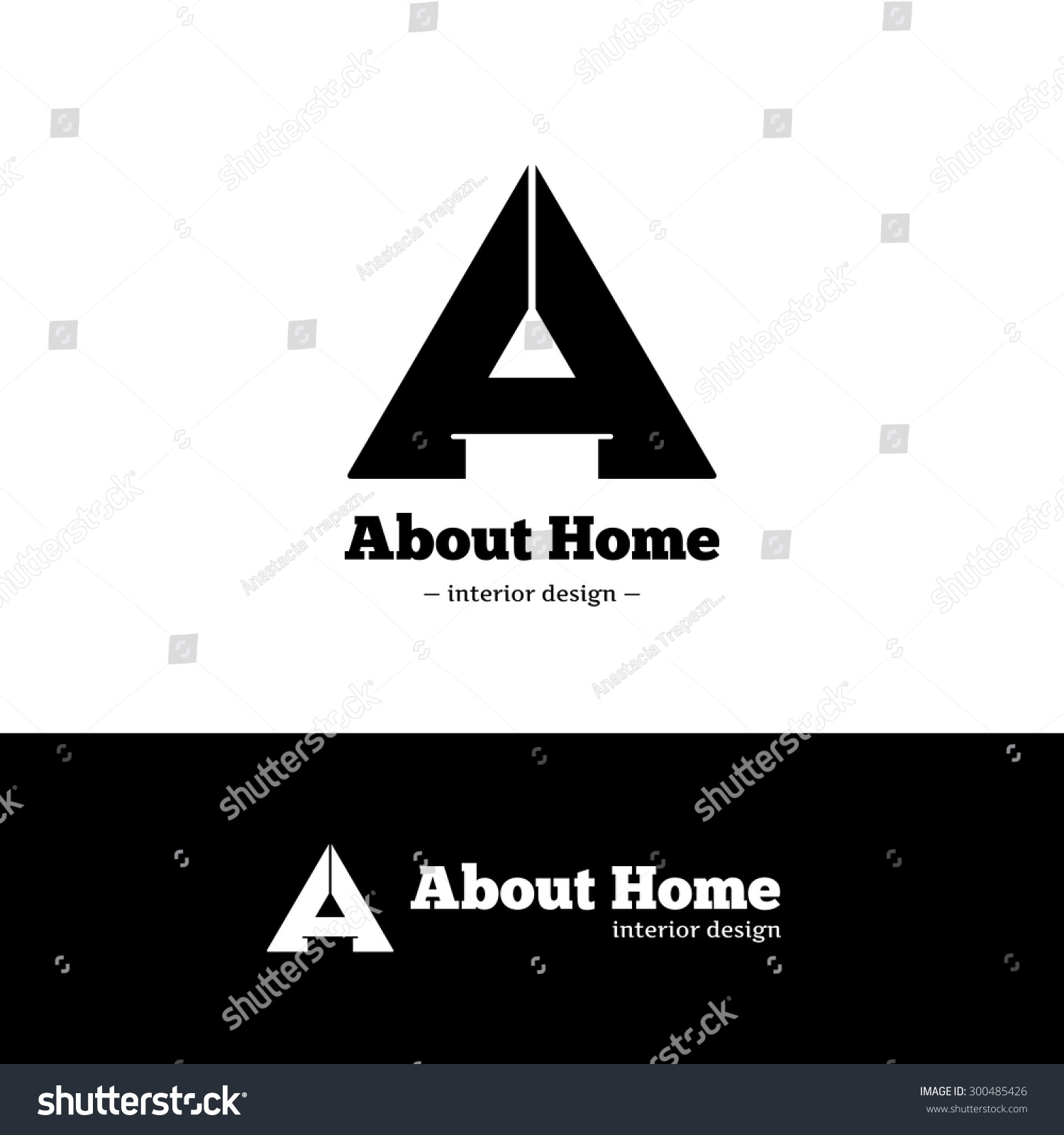 Vector Trendy Black And White Minimalistic Negative Space