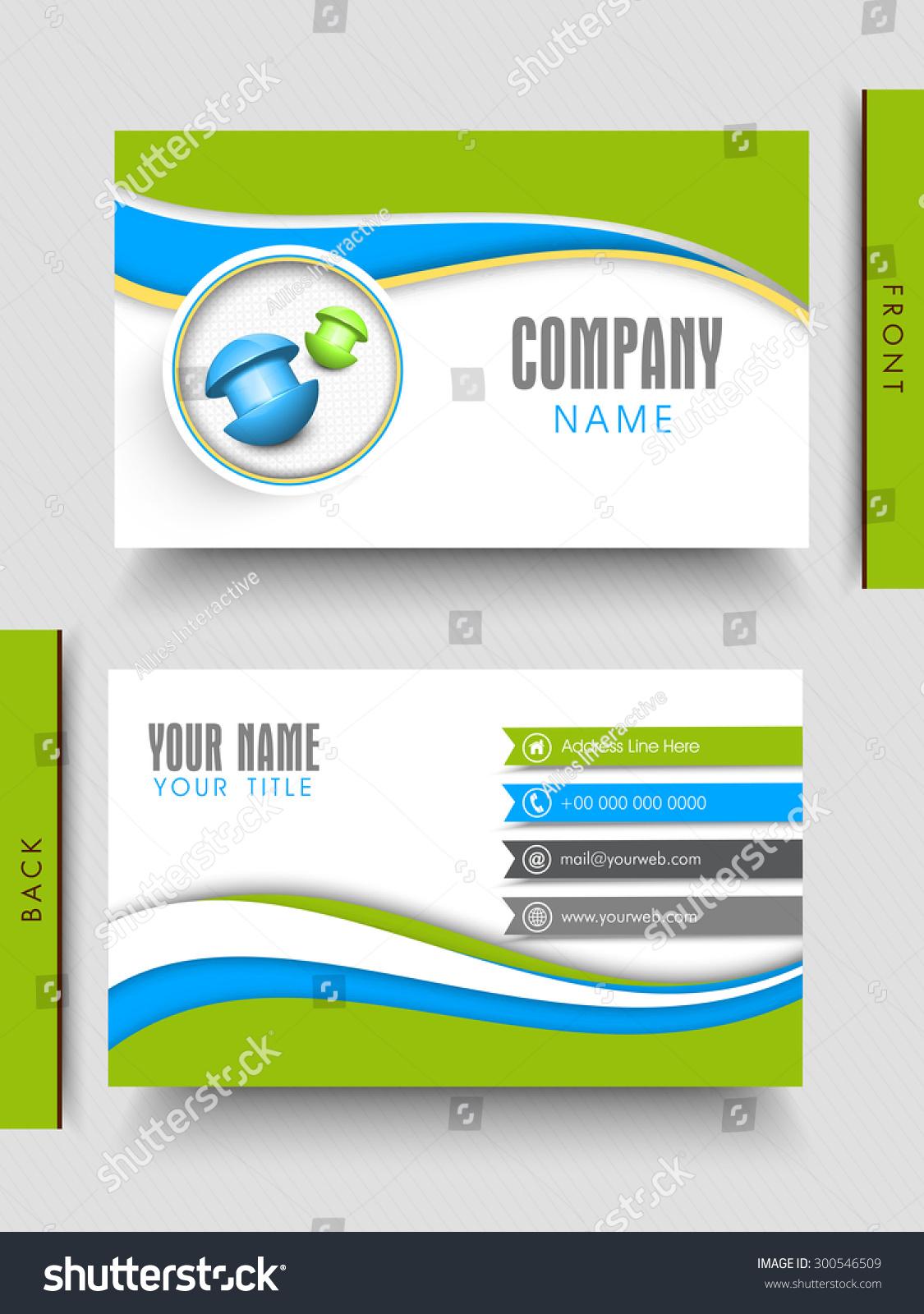 Creative business card design front back stock vector 300546509 creative business card design with front and back side presentation on gray background colourmoves