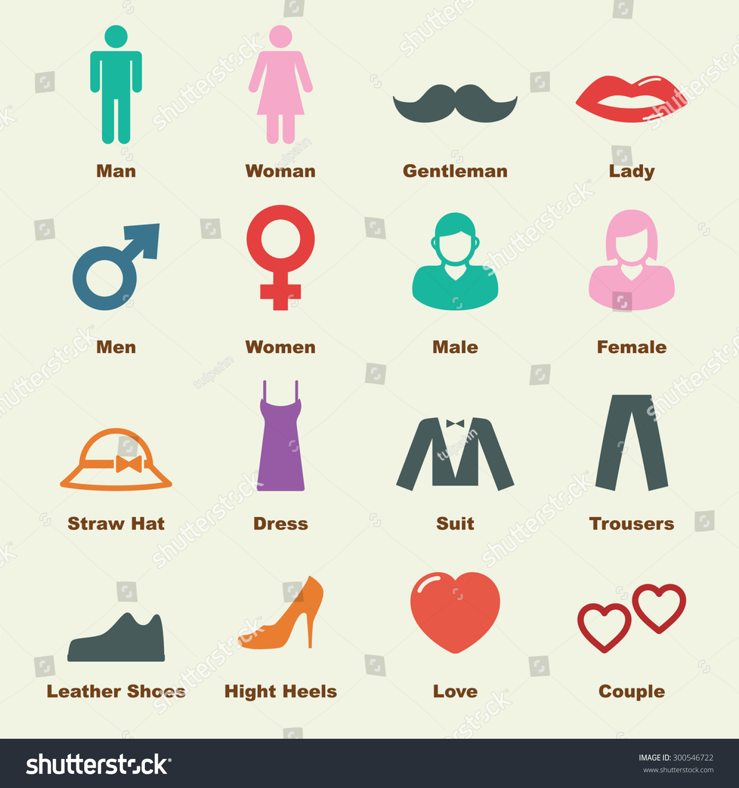 Man Woman Elements Vector Infographic Icons Stock Vector 300546722 ...