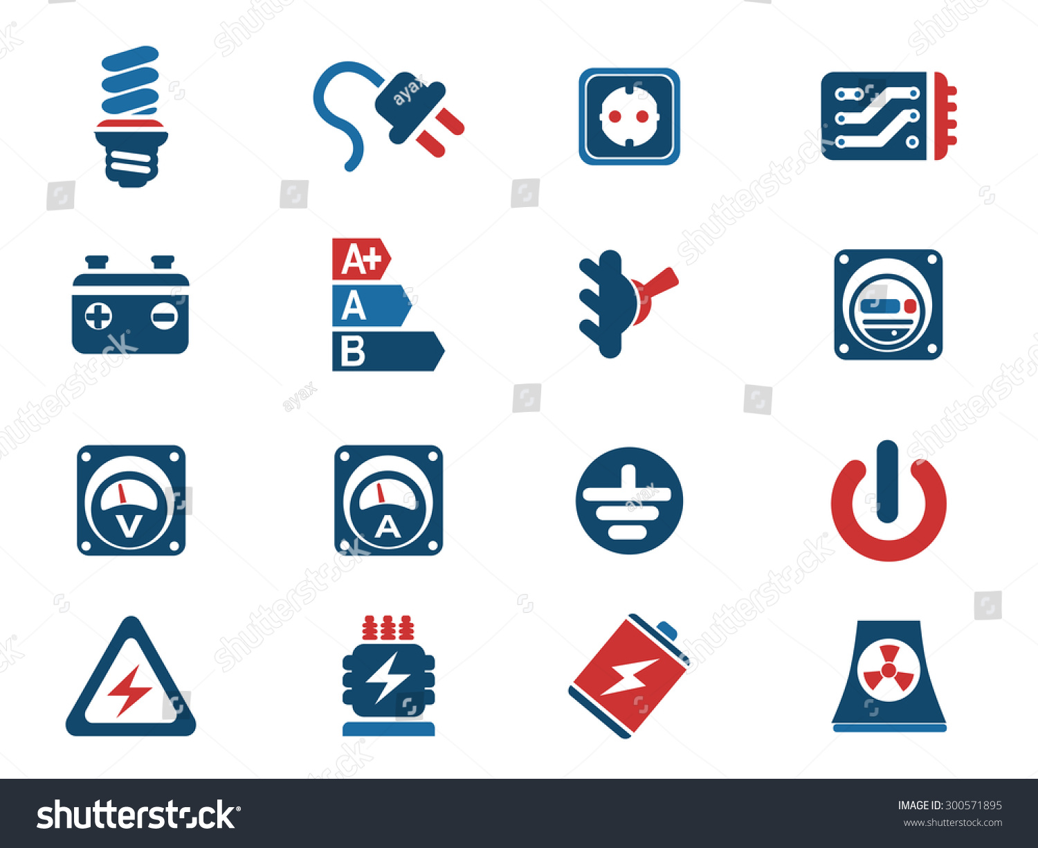 Electricity Icon Simply Symbol Web Icons Stock Vector 300571895 ...