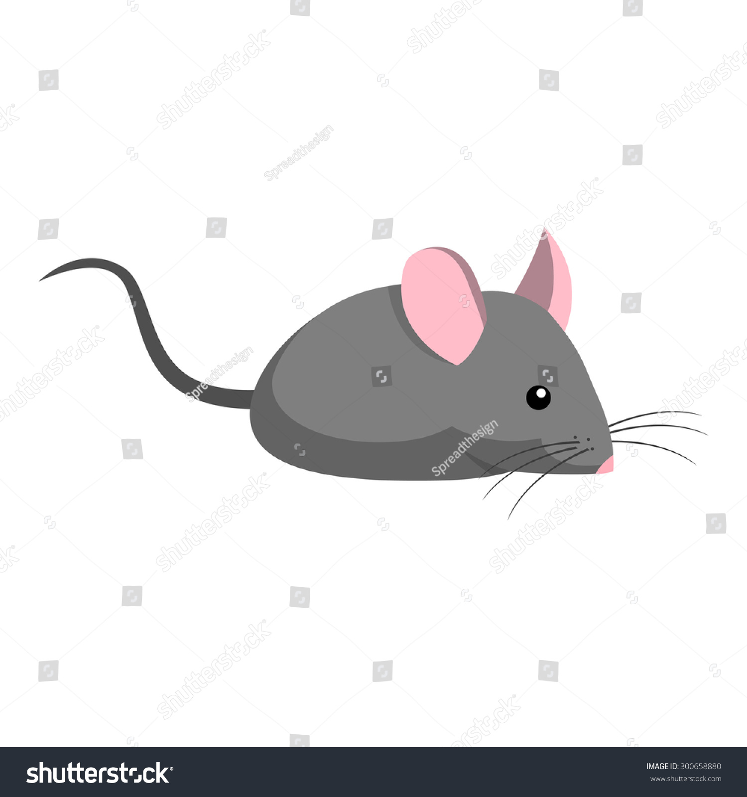 Cute Mouse Cartoon Stock Vector 300658880 : Shutterstock