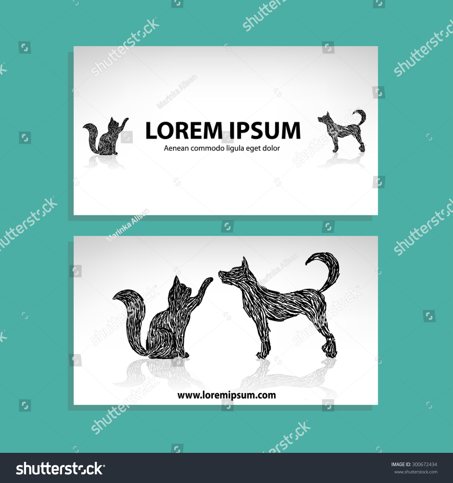 Wonderful Dog Business Cards Contemporary - Business Card Ideas ...