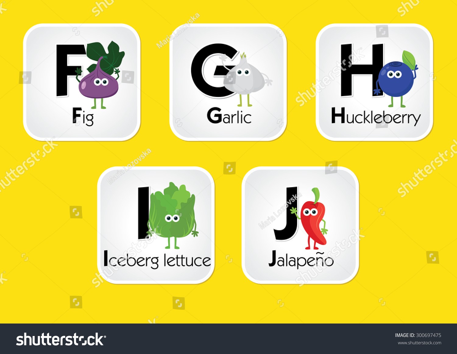 Fruit And Vegetable Alphabet Abc Chart For Kids. Eating Alphabet For  Toddlers. Printable In