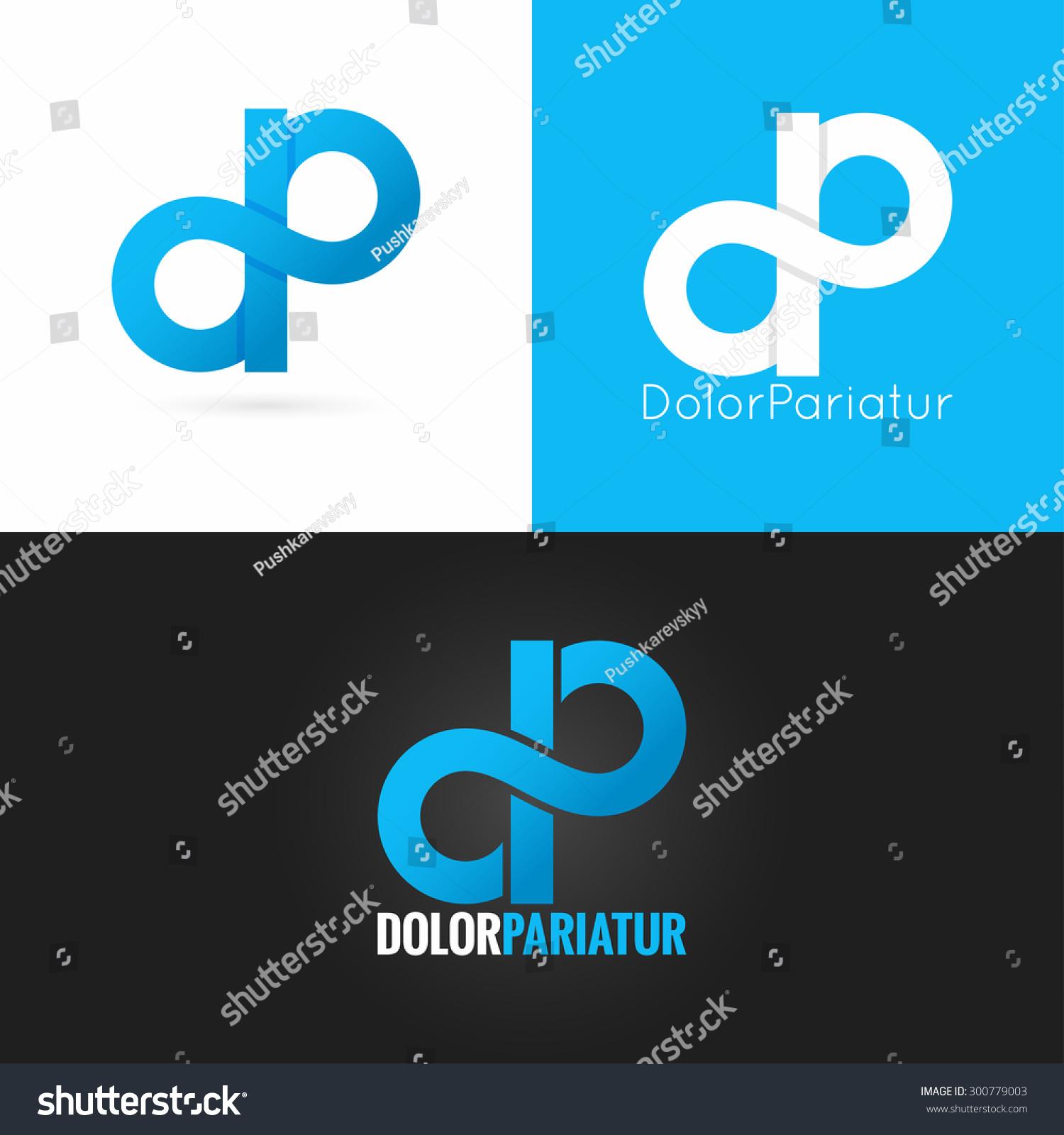 Letter D P Logo... D Alphabet Design