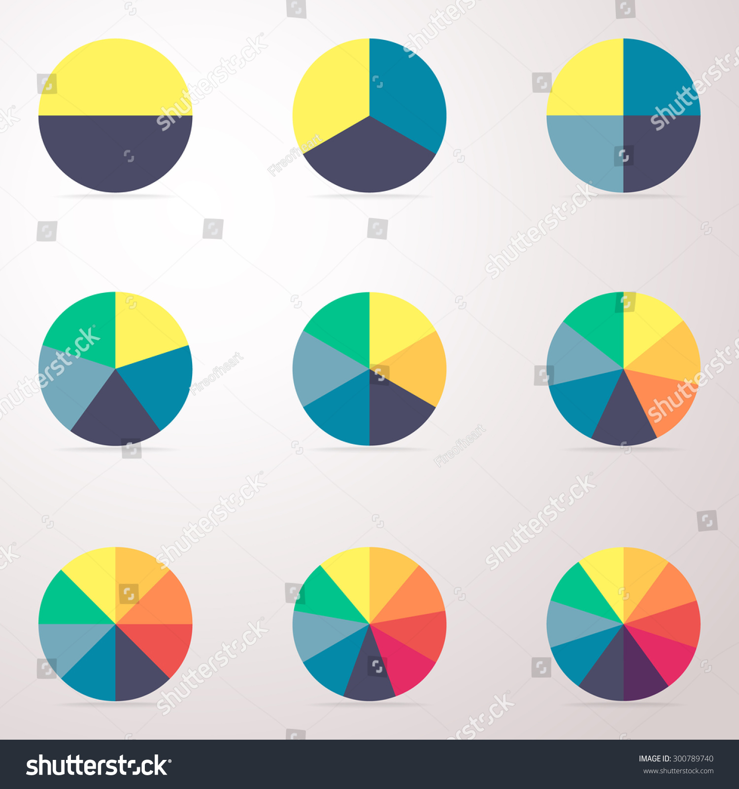 simple business flat pie chart graph stock vector (royalty free