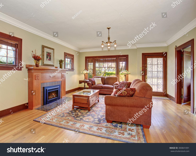 classic family living room nice rug stock photo 300841091 shutterstock. Black Bedroom Furniture Sets. Home Design Ideas