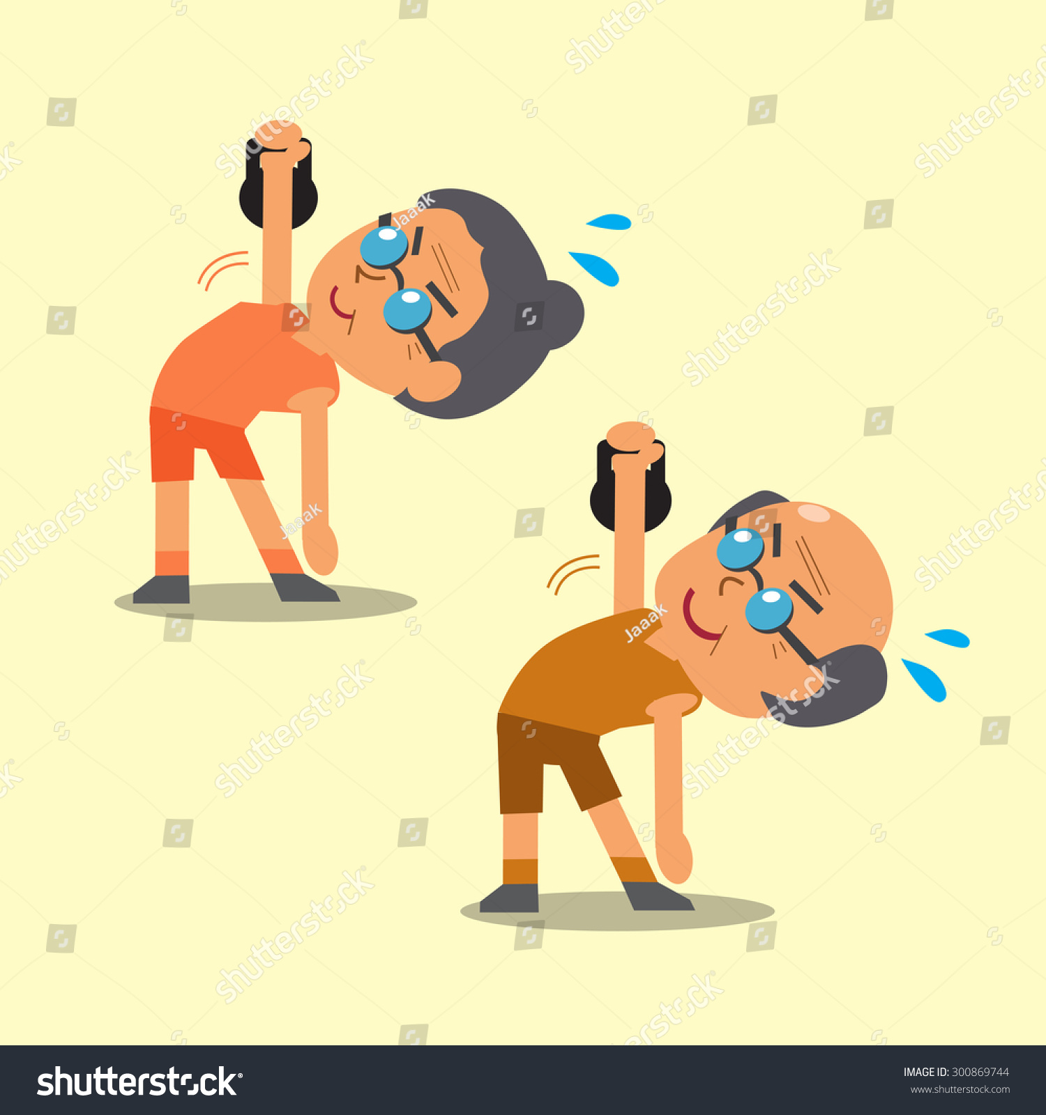 Cartoon Old Man Old Woman Doing Stock Vector 300869744 ...