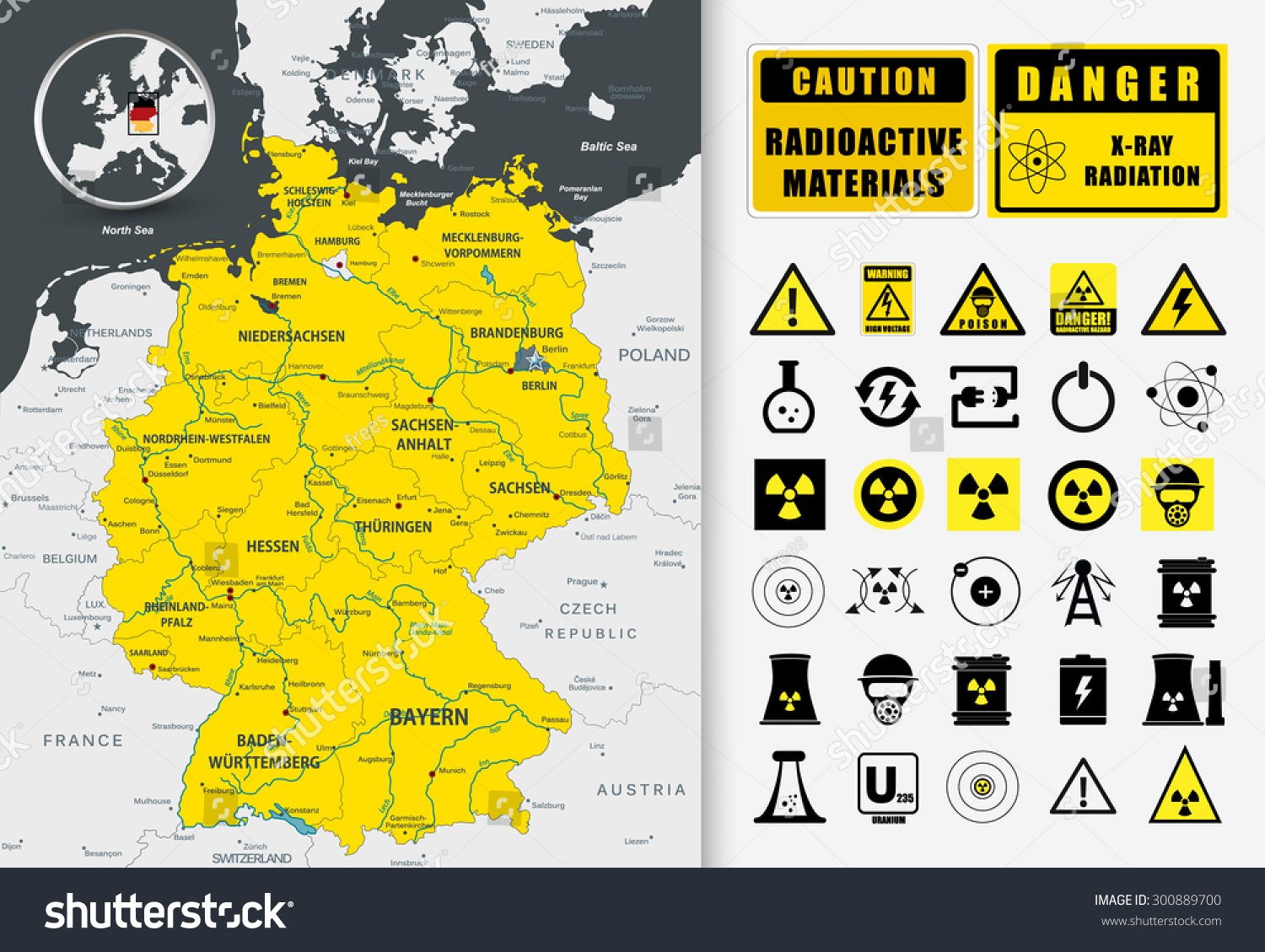 Nuclear Power Plant Map Germany Nuclear Stock Vector - Map of nuclear plants in us