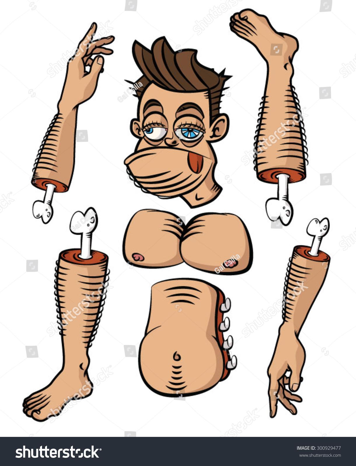 Hairy Human Body Parts Body Parts Stock Vector Royalty Free