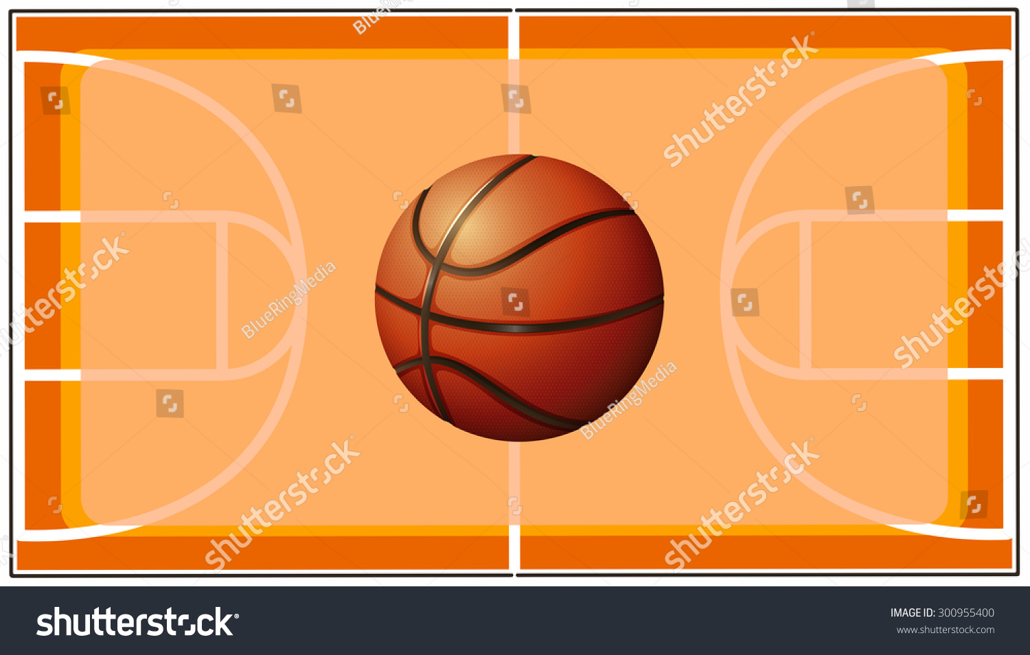 Basketball Basketball Court Background Stock Vector Royalty Free 300955400