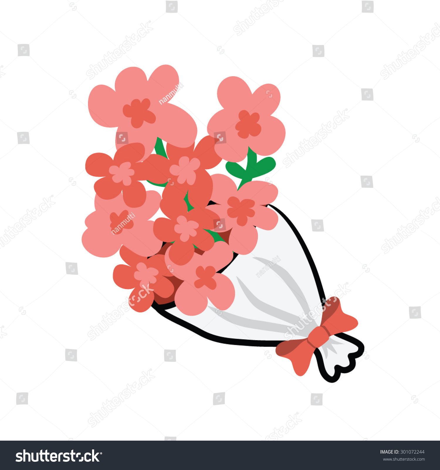 Flower Bouquet Vector Stock Vector Royalty Free 301072244