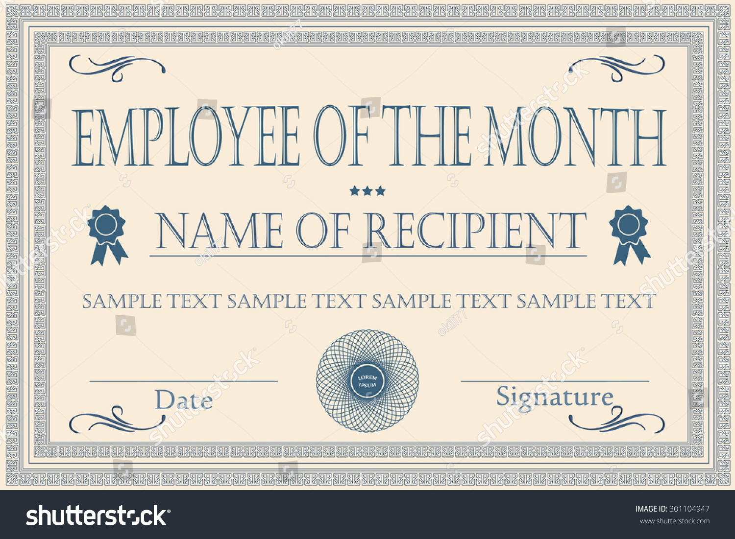 Appreciation Certificate Wording printable resume – Free Employee of the Month Certificate Template