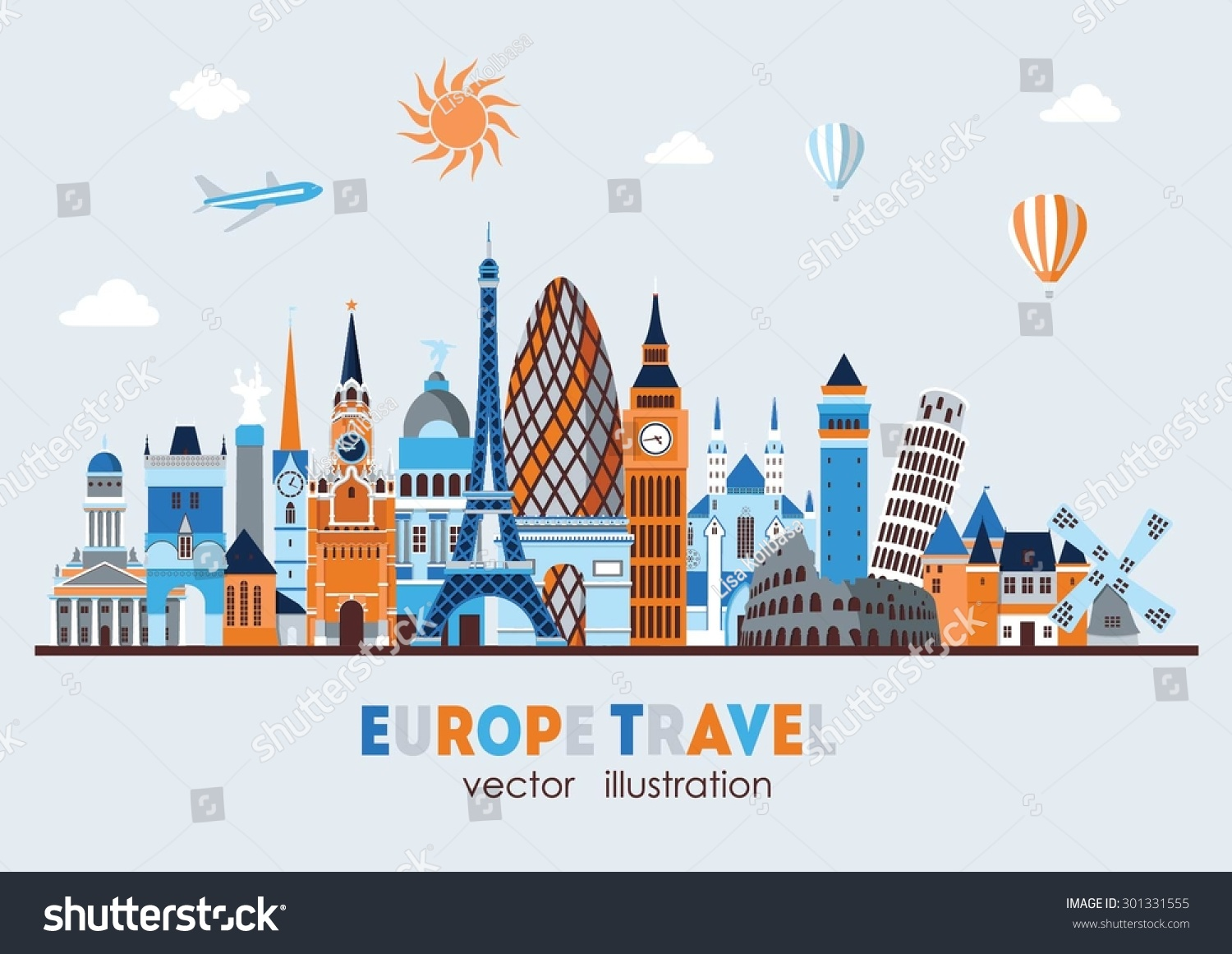 vector illustration of europe - photo #14