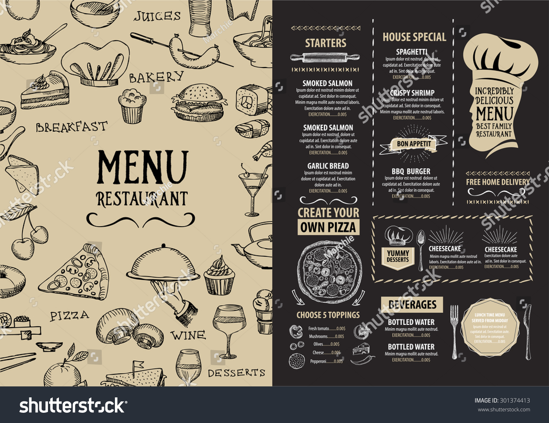 menu template design