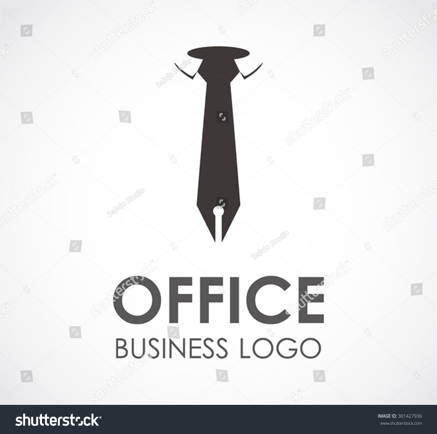 office tie pen business abstract vector stock vector 301427936