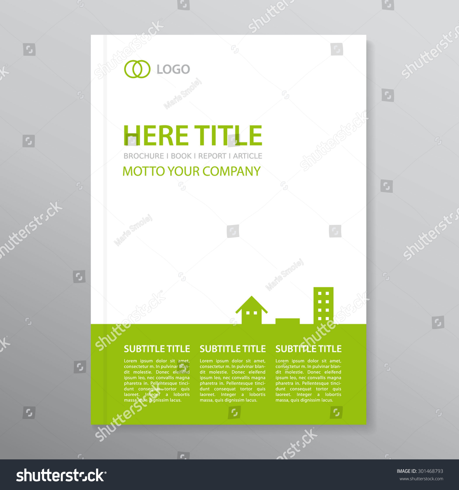 book report brochure template - vector brochure annual report book cover stock vector