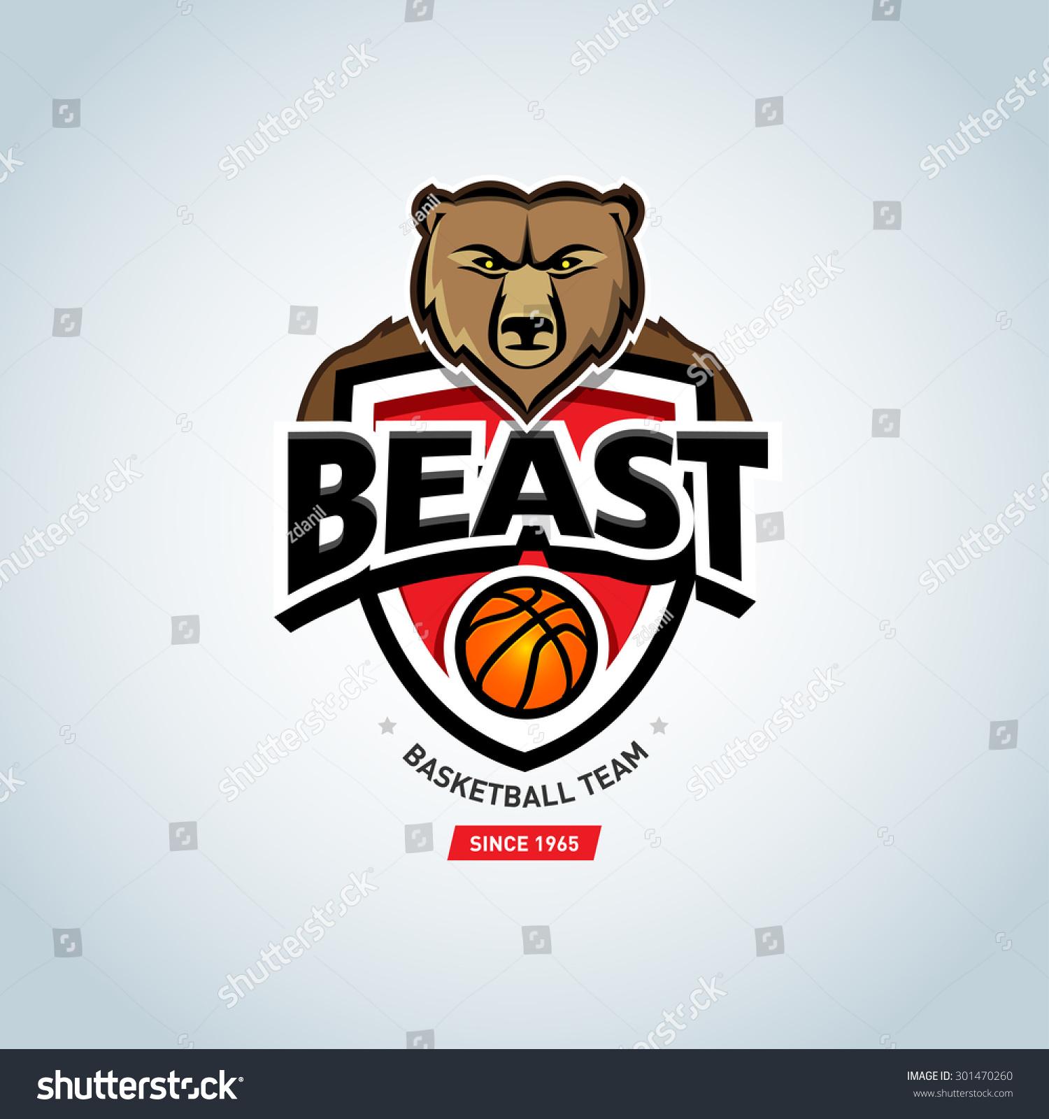 bear sport logo basketball logo template stock vector 301470260 shutterstock. Black Bedroom Furniture Sets. Home Design Ideas