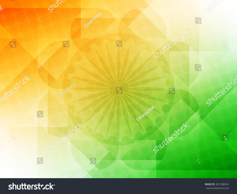 Indian Flag Theme: Elegant Shiny Indian Flag Theme Vector Background