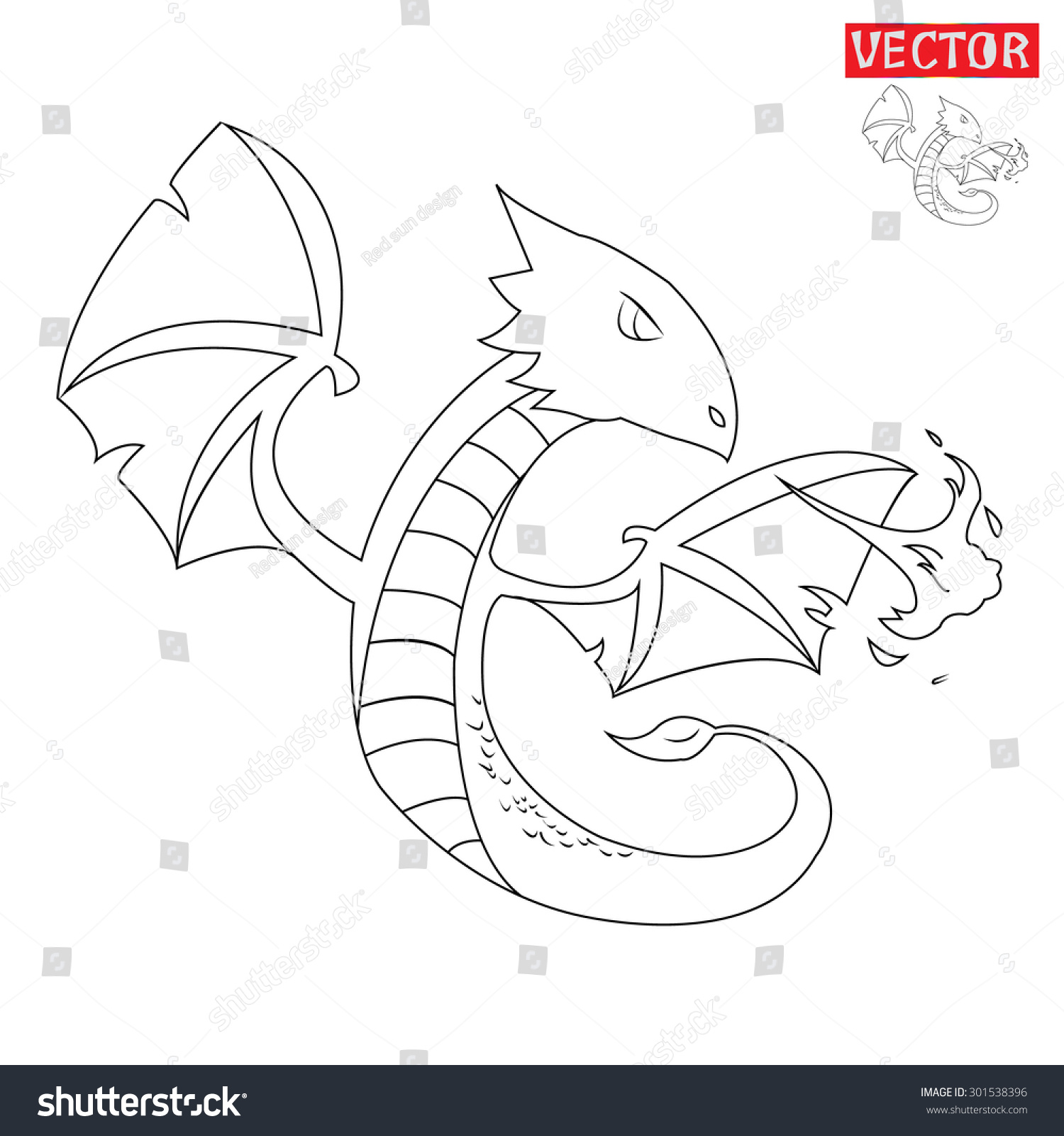 Dragon Breathing Fire Cartoon Preview Save To A Lightbox How To Make
