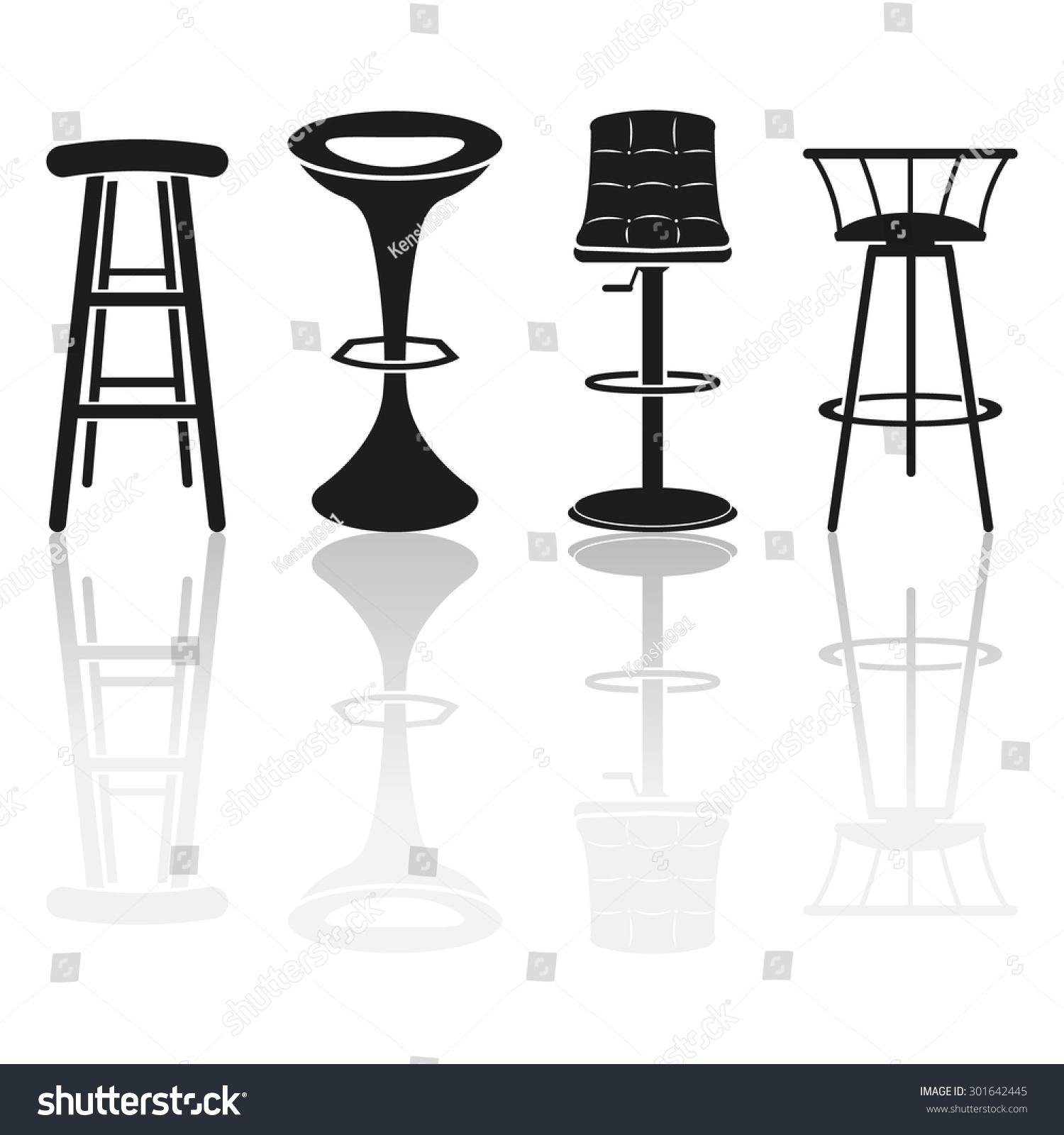 Bar Stool Icons Stock Vector Illustration 301642445  : stock vector bar stool icons 301642445 from www.shutterstock.com size 1500 x 1600 jpeg 242kB