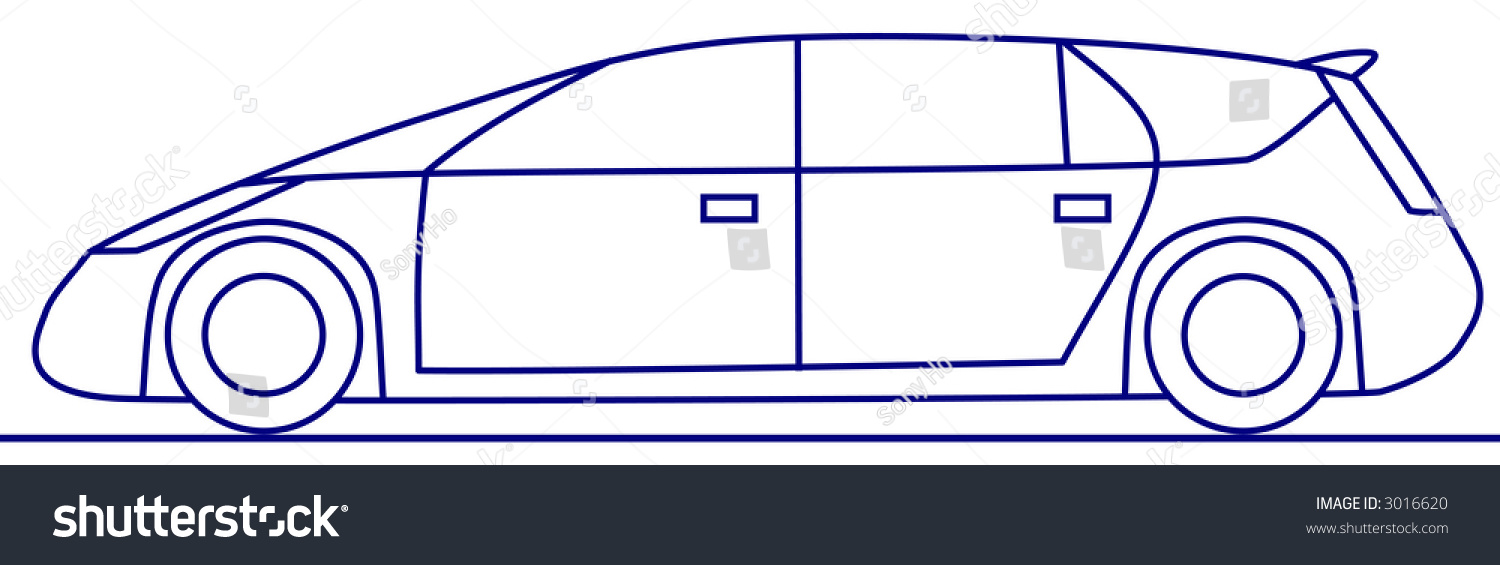 Simple door drawing - A Simple Drawing Concept Car My Own Design