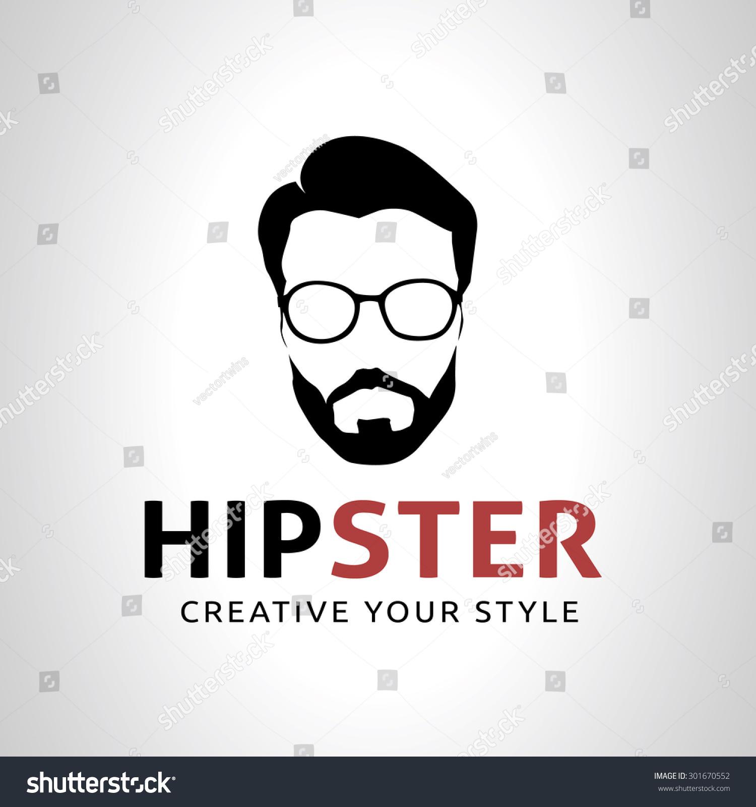 Hipster Logogeek Logoman Old School Logo Stock Vector ...