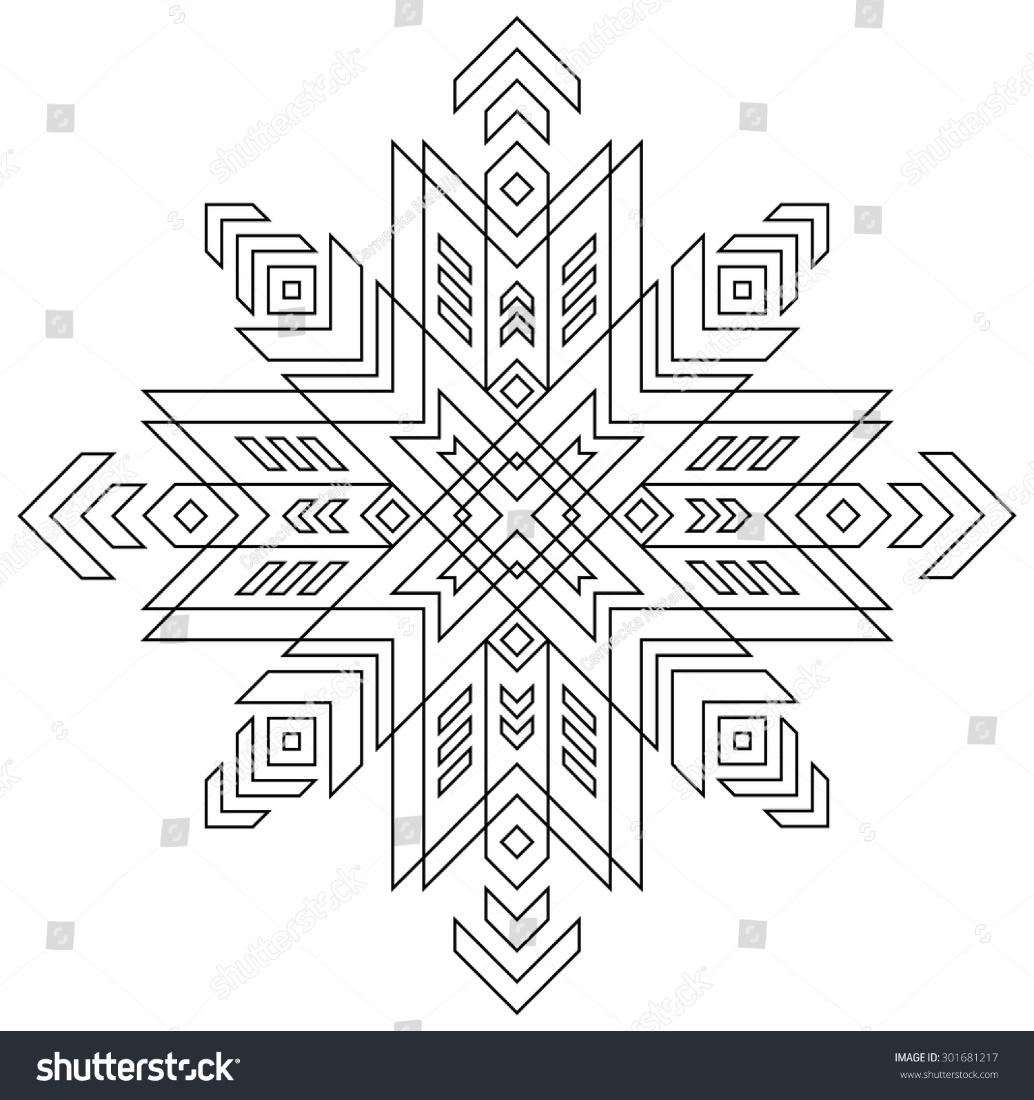 Black White Pattern Latvian Symbol Vector Stock Vector Royalty Free