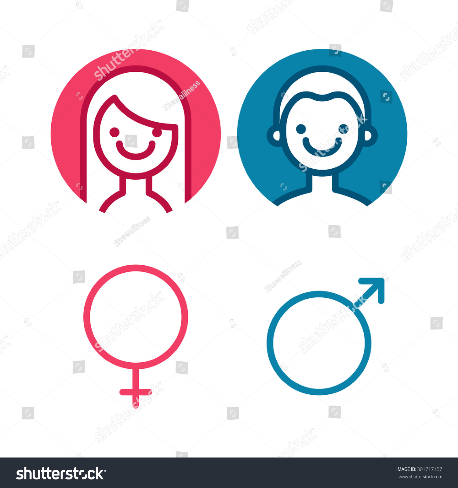 Vector male female icon set man stock vector 301717157 shutterstock vector male and female icon set man and lady toilet sign biocorpaavc Choice Image